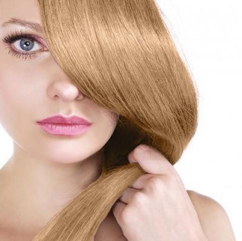 Clip in vlasy - karamelová blond - 45 cm