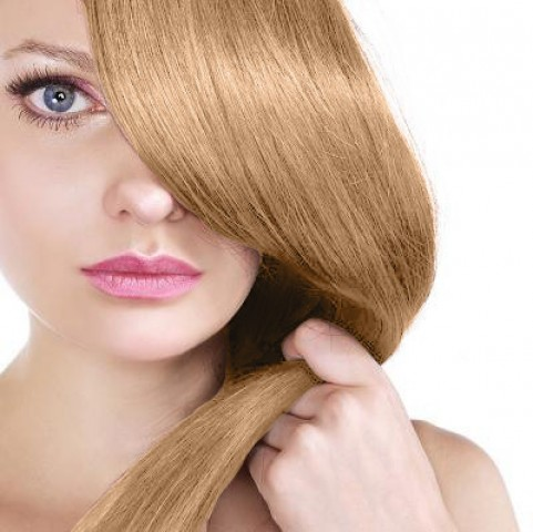 Clip in vlasy - karamelová blond - 50 cm