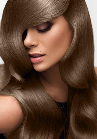 Clip in vlasy deluxe - stredne hnedá - 45 cm