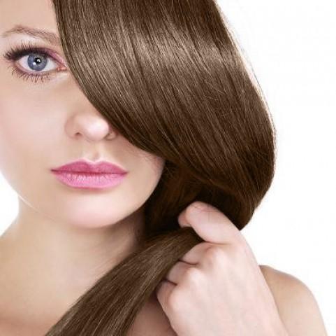 Clip in vlasy - středně hnědá - 60 cm