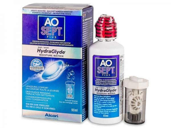 Ciba Vision AO Sept Plus 90 ml s Hydraglyde + pouzdro na čočky